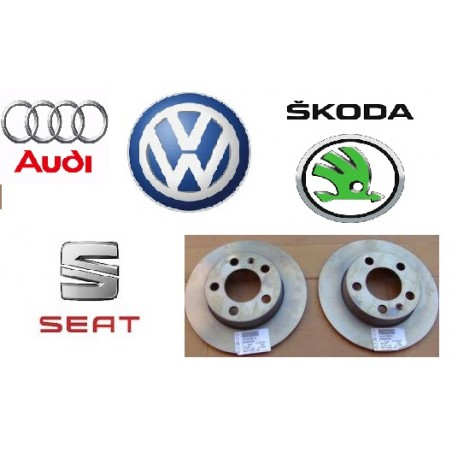 DISCO FRENO POSTERIORE AUDI SKODA VW SEAT (ORIGINALE) 1J0615601N