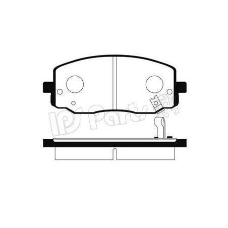 Pastiglie freno anteriore HYUNDAI i10 1.0 01.2011 - 12.2017 i10 1.2 1.1 CRDi 1,0 LPG KIA PICANTO 1.0 1. 1.1 CRDi