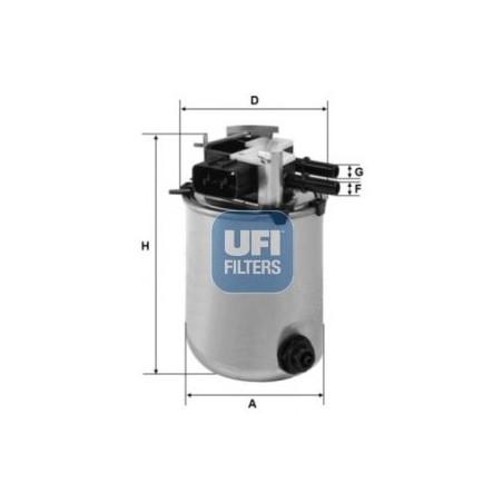 Filtro carburante NISSAN QASHQAI X TRAIL RENAULT KADJAR: UFI 2409501