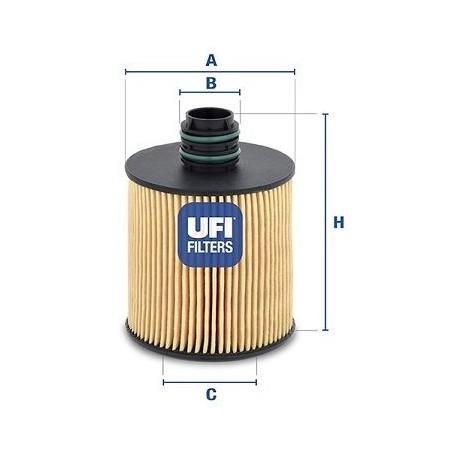 Filtro olio  ALFA ROMEO FIAT LANCIA OPEL SUZUKI JEEP: UFI 2508300