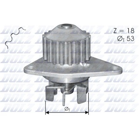 Pompa acqua  CITROEN BERLINGO C3 C2 NEMO SAXO XSARA FIAT FIORINO QUBO PEUGEOT 206 207 307