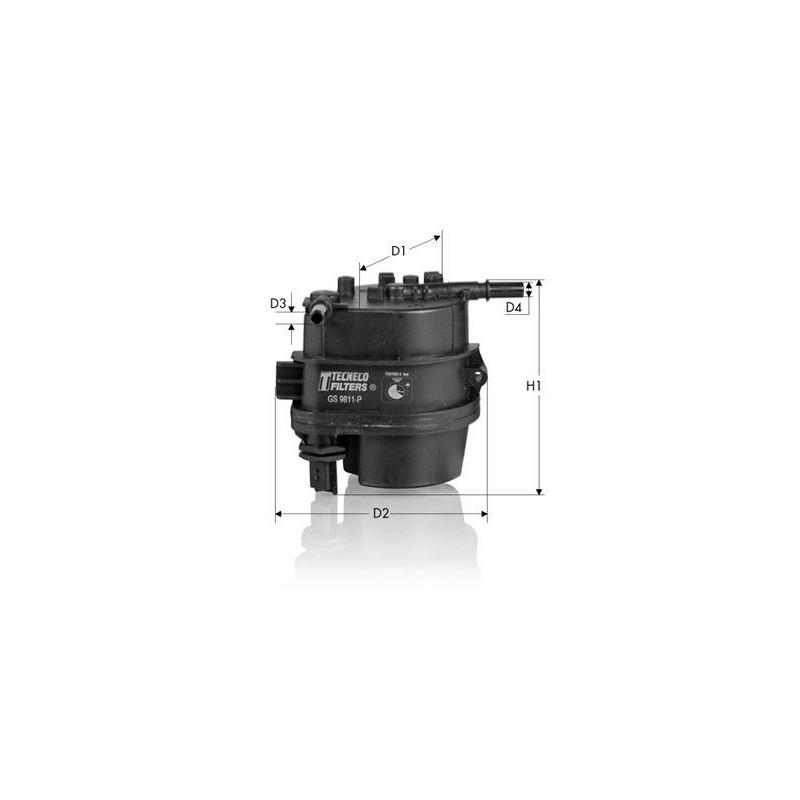 FILTRO Carburante Filtro Filtro Diesel 1.4 HDI TDCI FORD FIESTA CITROEN c1 c2 c3
