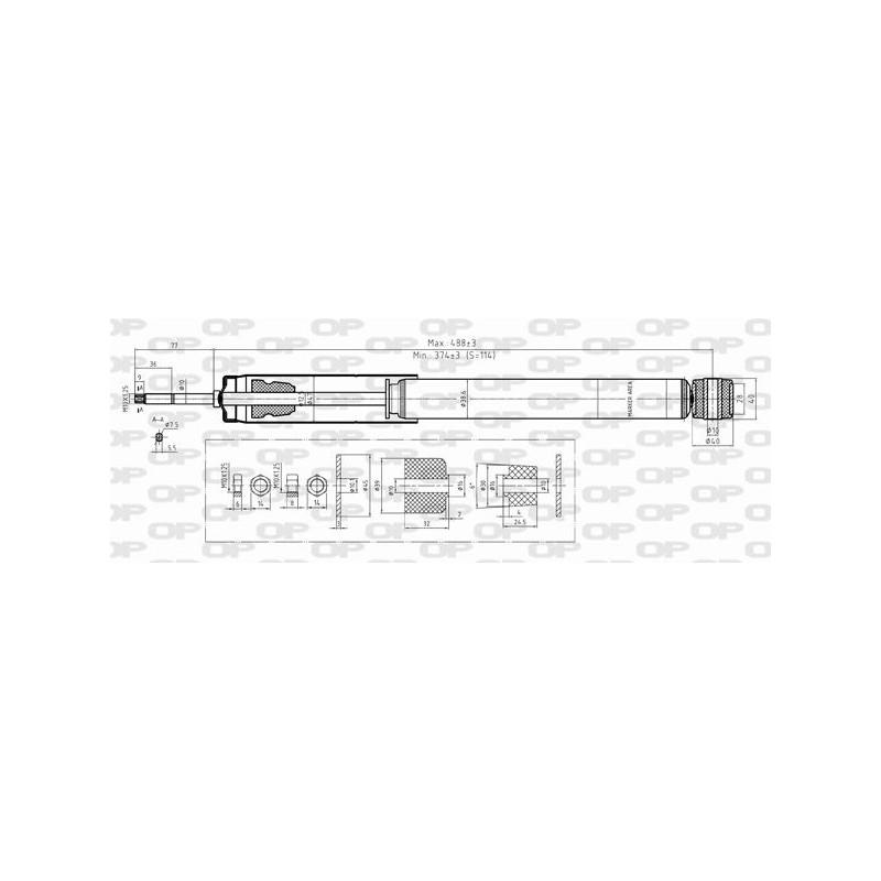 Mercedes B Class 160 Cdi Executive: Ammortizzatore Posteriore MERCEDES-CLASSE A-B 150 160 170