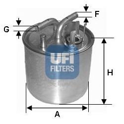 Filtro carburante Gasolio...
