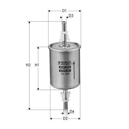 Filtro carburante Benzina alimentazione: TECNECO FILTERS IN67