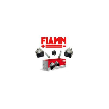 Coppia Trombe Clacson Auto Kit Fiamm 12V AM80S AM80SX + Staffa + Rele 924642